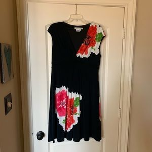 Maggy London black and floral dress